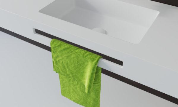 Accesorio toallero frontal